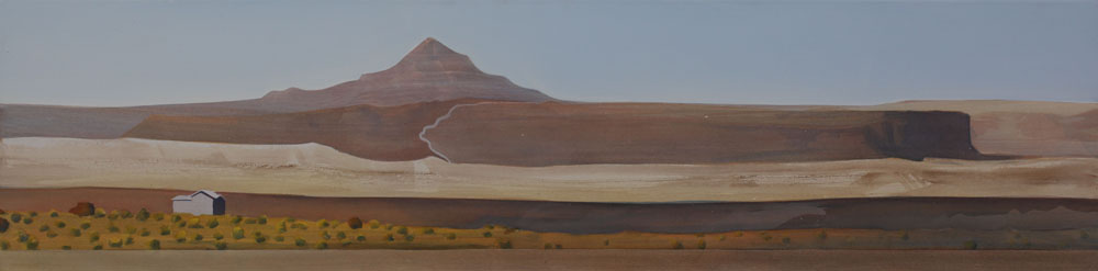 "Lost Chance Ranch acrylic on canvas 18x72"" Gerlach NV 2011"